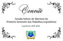 Convite - Abertura do Ano Legislativo
