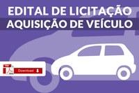 Edital de Licitação - Carro
