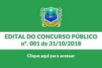 Edital do Concurso 001/2018