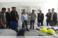 Vereadores visitam IEMA e constatam a felicidades dos alunos pela surpreendente estrutura oferecida